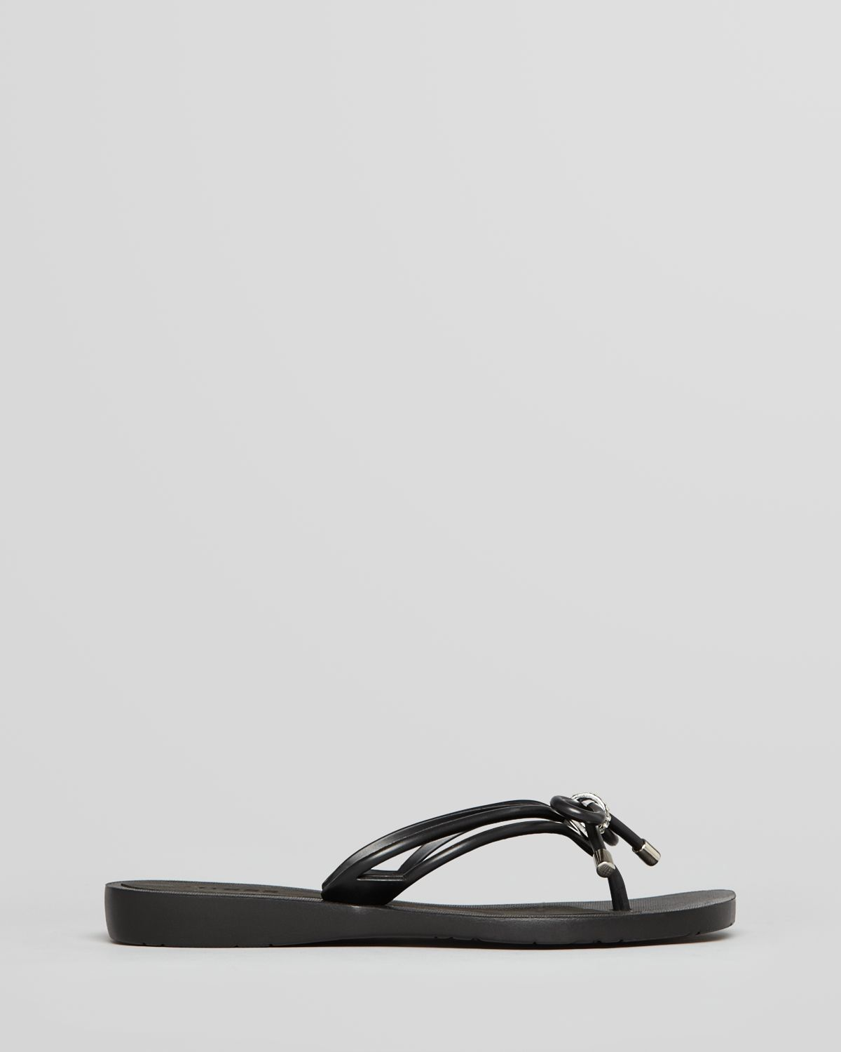 82743d582ac Lyst - Guess Flip Flops Talya Bow in Black