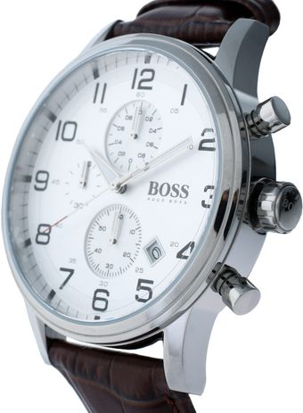 Hugo Boss Leather Watch - Lyst