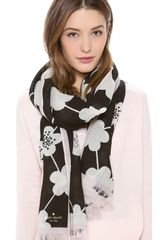Kate Spade All That Glitters Festive Flower Scarf - Lyst