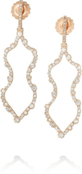 Kimberly Mcdonald 18karat Rose Gold Diamond Earrings - Lyst
