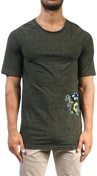 Laneus Cotton Tshirt with Bufalo Embroidery - Lyst
