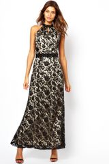 Little Mistress  Lace Layered Maxi Dress - Lyst