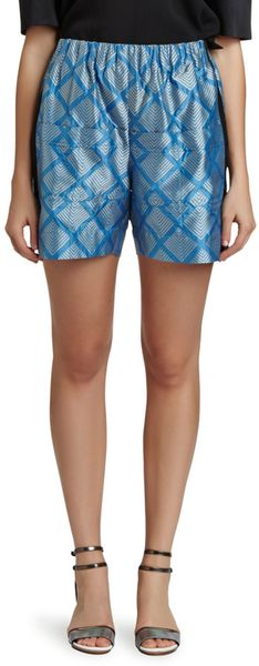 Maiyet Pleat Waist Shorts - Lyst