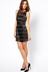 Mango Embellished Dress - Lyst