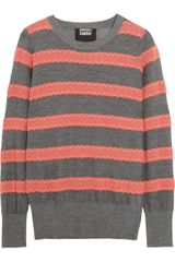 Markus Lupfer Striped Cotton and Wool Blend Sweater - Lyst