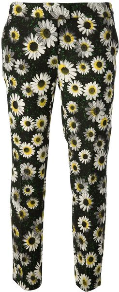 Moschino Cheap & Chic Floral Print Trouser - Lyst