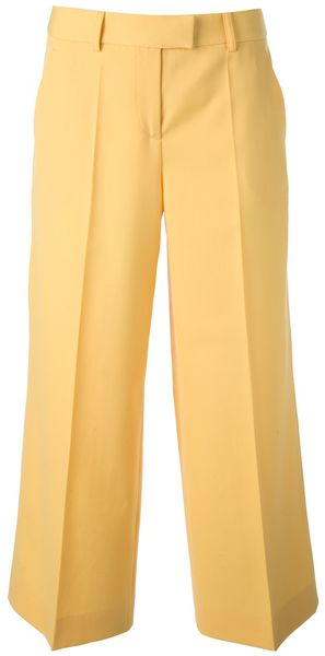 Moschino Cheap & Chic Cropped Wide Leg Trouser - Lyst