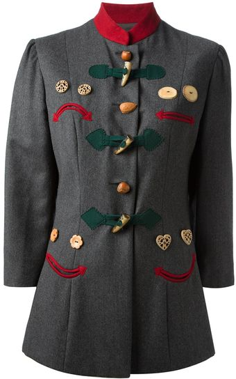 Moschino Vintage Smiley Face Coat - Lyst