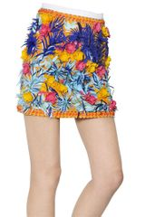 MSGM Embellished Cotton Viscose Ottoman Skirt - Lyst