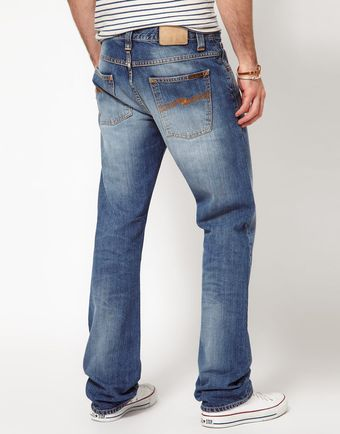 Nudie Jeans Average Joe Straight Fit Vacation Worn - Lyst