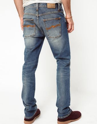 Nudie Jeans Grim Tim Slim Fit Cripsy Used - Lyst