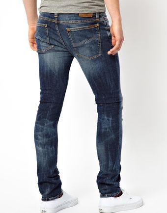 Nudie Jeans Tight Long John Skinny Fit Grey Blues Wash - Lyst
