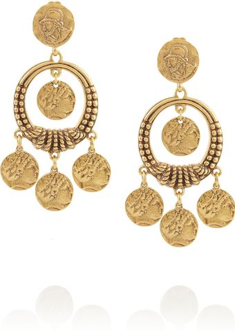 Oscar de la Renta Goldplated Coin Clip Earrings - Lyst