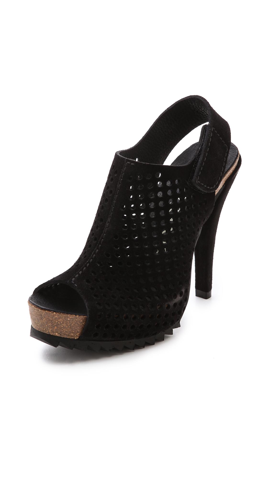 Innovative By Hudson Sherbert Low Heel Sandals In Black  Lyst