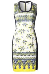Prabal Gurung Palm Print Sheath Dress - Lyst