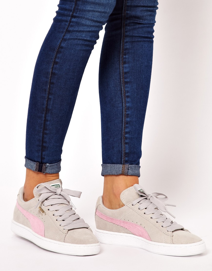 973549fa9be Home   Trainers. by Fmeaddons. Sale! puma suede classic womens trainers in light  blue