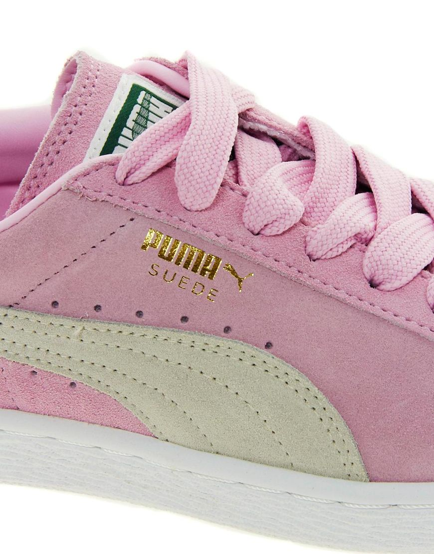 46f19c896dcf8c Lyst - PUMA Suede Classic Baby Pink Sneakers in Pink
