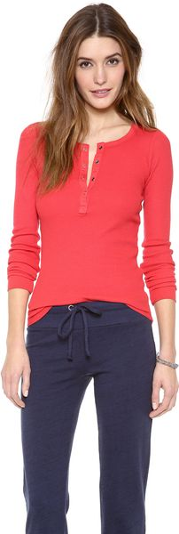 Splendid Thermal Henley - Lyst