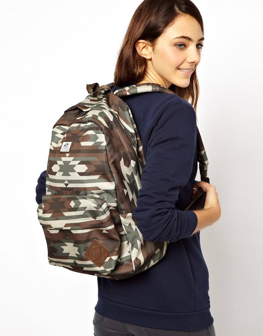afdb80ed0aa38 Vans Old Skool Backpack with Native Camo Print - Lyst