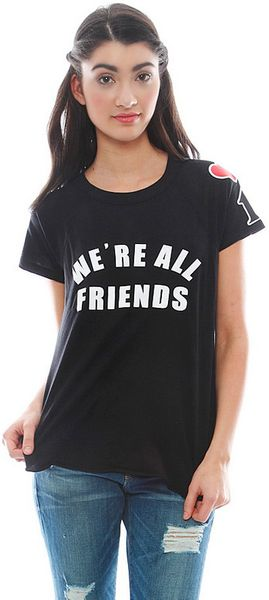 Wildfox Were All Friends Retro Raglan - Lyst