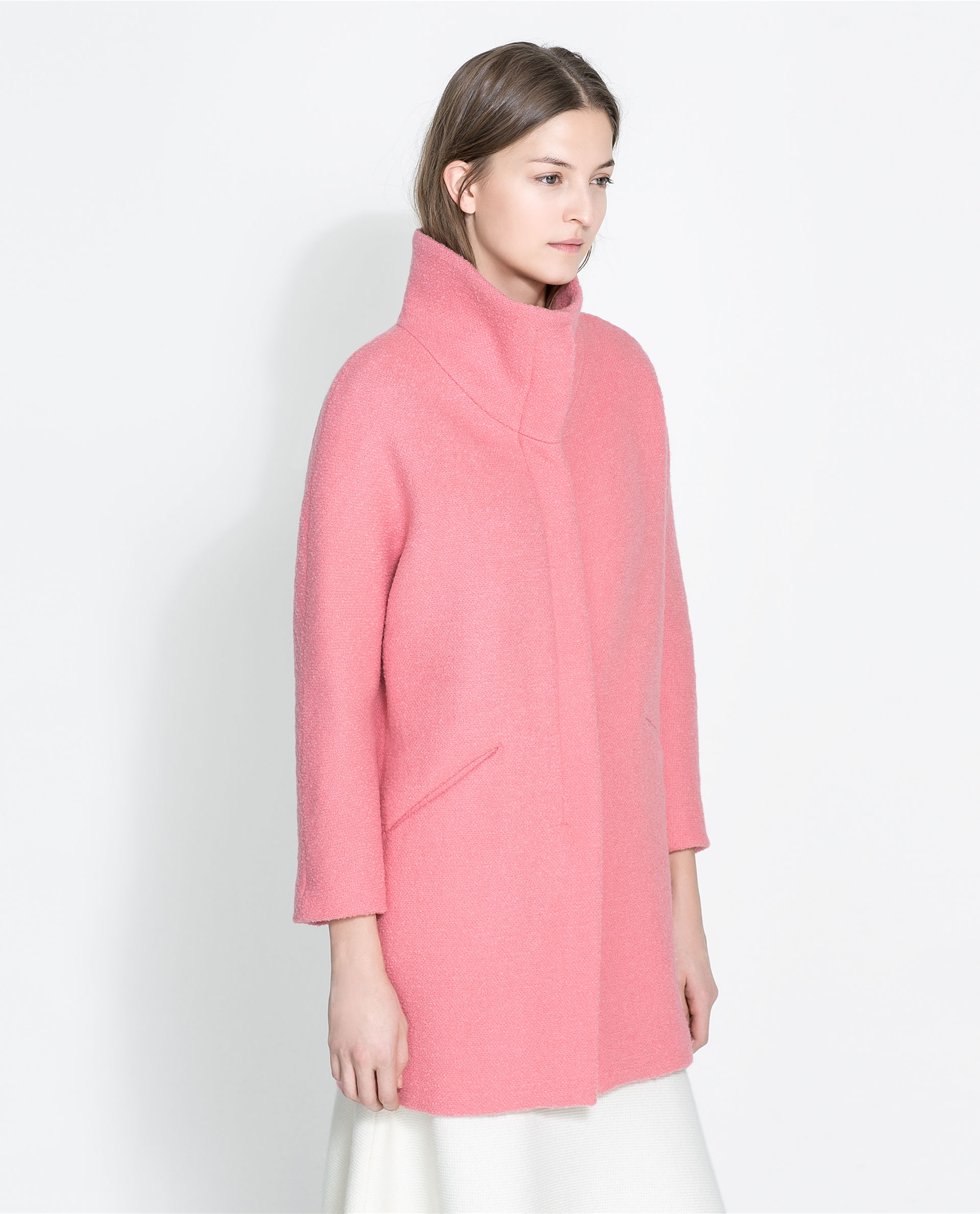 Images of Zara Pink Coat - Reikian