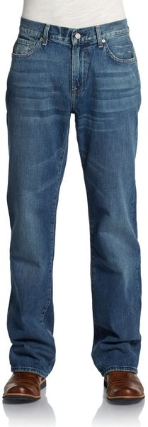 7 For All Mankind Austyn Straightleg Jeansautumn River - Lyst