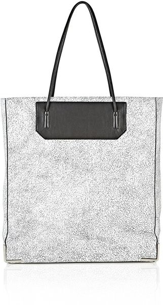 Alexander Wang Prisma Skeletal Tote in Matte Cracked Peroxide with Rhodium - Lyst