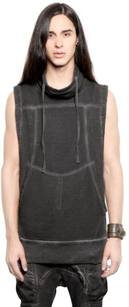 Alexandre Plokhov Sleeveless Cotton Fleece Sweatshirt - Lyst