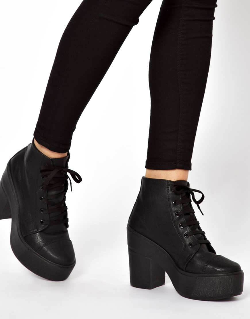7f5b2473dd3e Up Lyst Ankle Black Good In Things Lace All Asos Boots 4XwXqRg
