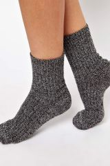Asos Mix Knit Ankle Sock - Lyst