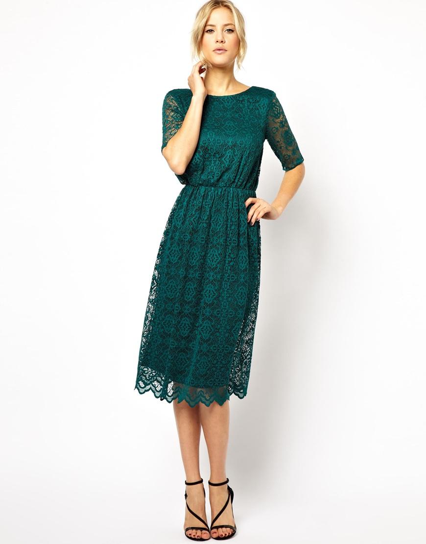 lace midi dress - photo #35