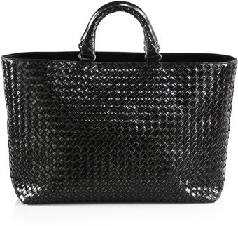 Bottega Veneta Interccio Leather Tote - Lyst