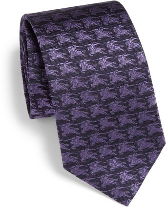 Burberry Small Knight Printed Silk Tie - Lyst