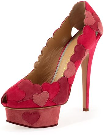 Charlotte Olympia Love Me Heart Applique Pump  - Lyst