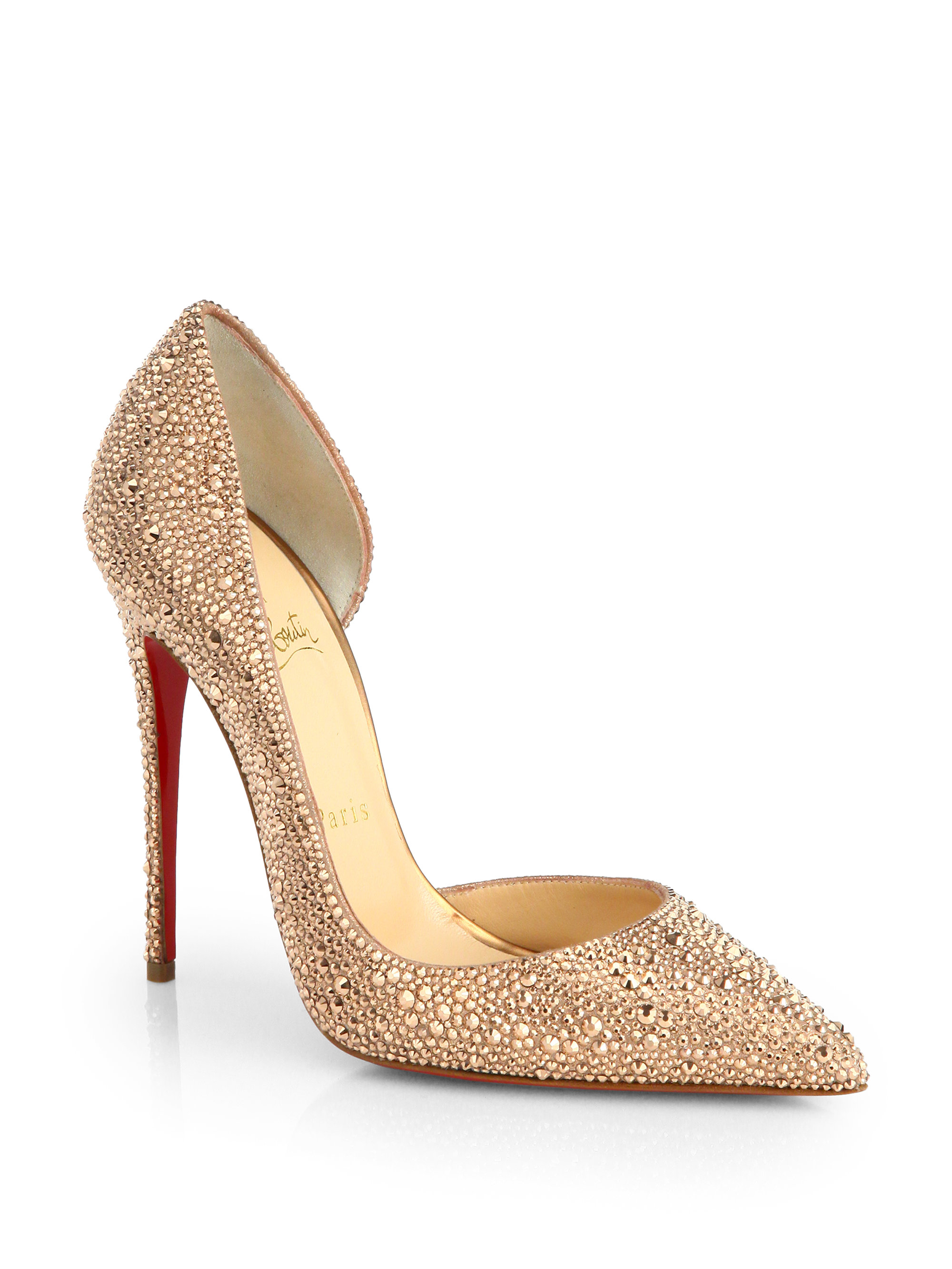 19463bd0a2a3 ... where to buy lyst christian louboutin iriza strass crystal pumps in  metallic 424d9 a3868