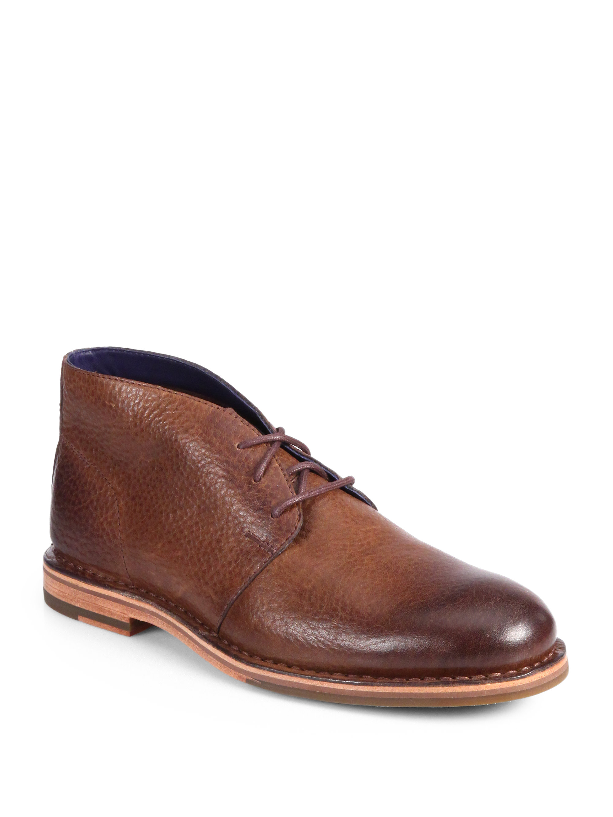 cole haan glenn laceup chukka boots in brown for lyst