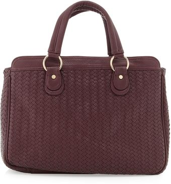 Deux Lux Gramercy Wovenpebbled Tote Bag Grape - Lyst