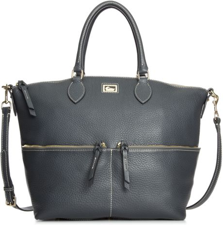 Dooney & Bourke Dillen Ii Large Pocket Satchel in Gray (Dark Grey) - Lyst