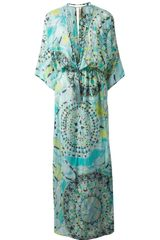 Emilio Pucci Printed Maxi Dress - Lyst