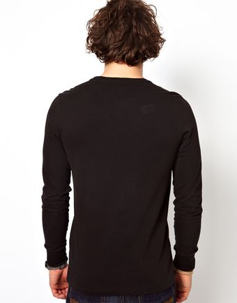 G-star Raw Long Sleeve Top Byron Logo Stamp - Lyst