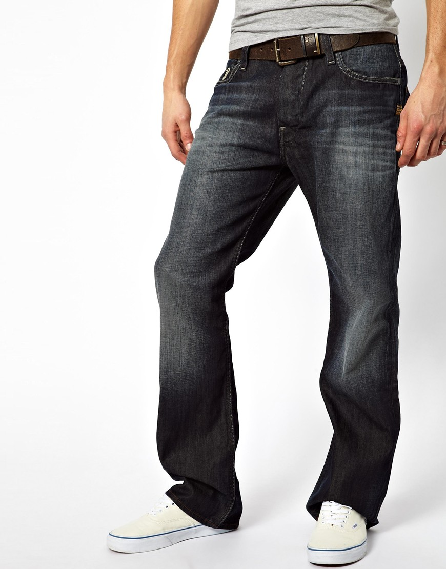 lyst g star raw jeans attacc loose in blue for men. Black Bedroom Furniture Sets. Home Design Ideas