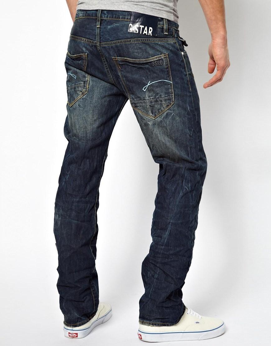 lyst g star raw jeans morris low in blue for men. Black Bedroom Furniture Sets. Home Design Ideas