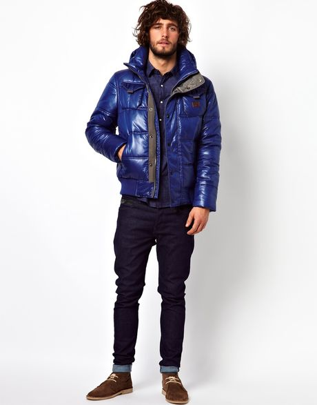 g star raw quilted bomber jacket whistler hooded chintz in. Black Bedroom Furniture Sets. Home Design Ideas