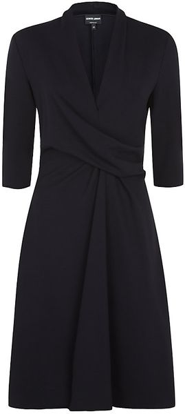 Giorgio Armani Jersey Twist Dress - Lyst