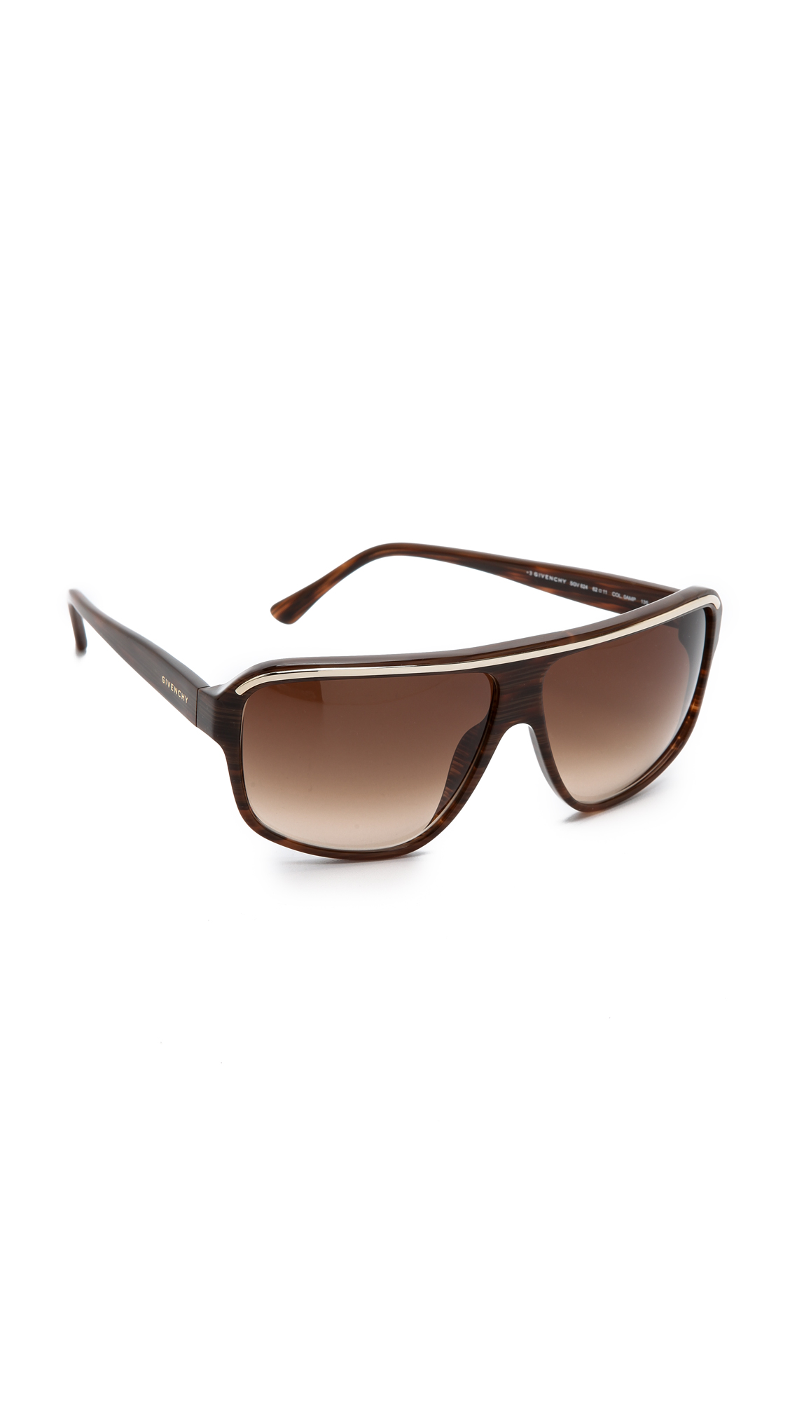Best Lightweight Glasses Frames : Givenchy Metal Flat Top Sunglasses - Light Brown/Brown ...