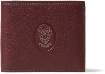 Gucci Embossed Leather Billfold Wallet - Lyst