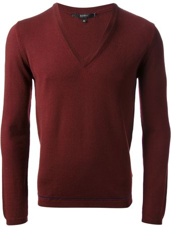 Gucci V Neck Sweater - Lyst