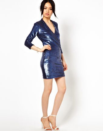 Iro Sequin Draped Evening Dress - Lyst