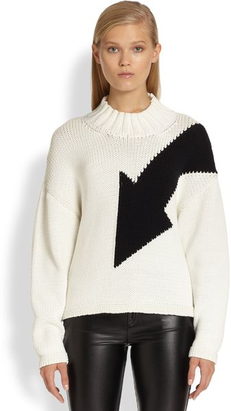 McQ by Alexander McQueen Dolmansleeved Arrow Sweater - Lyst