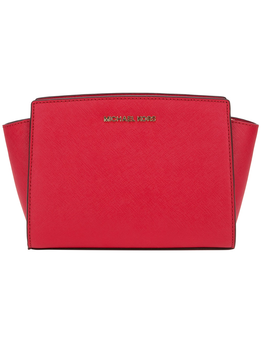 michael michael kors 39 selma 39 pochette in red lyst. Black Bedroom Furniture Sets. Home Design Ideas